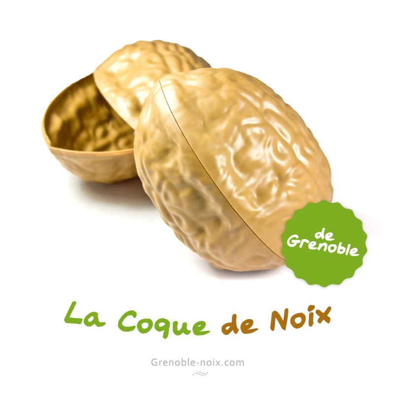 La véritable mascotte grenobloise ! En 2012, marque déposée de la coque de noix de Grenoble